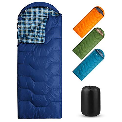 Forceatt Camping Schlafsack, 3-4 Jahreszeiten Reiserucksack Schlafsack für Camping,Reisen...