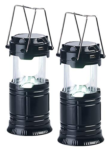 Semptec Urban Survival Technology Campinglampe: 2er Pack 3in1-Solar-LED-Camping-Laterne,...