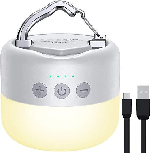 YFW Camping Laterne LED, Campinglampe Aufladbar USB, 3 Helligkeiten Dimmbar, eingebauter...