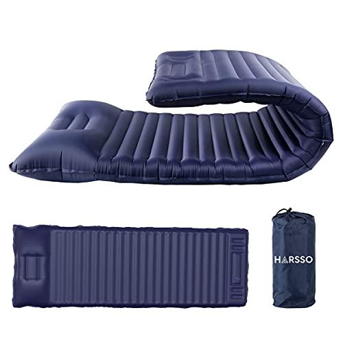 Harsso Luftmatratze Selbstaufblasend, Camping Aufblasbare Isomatte Outdoor, Thermarest...