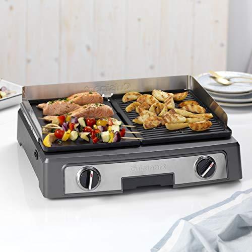 Cuisinart Plancha BBQ Elite Tischgrill mit austauschbaren Grill und Plancha Platten,...