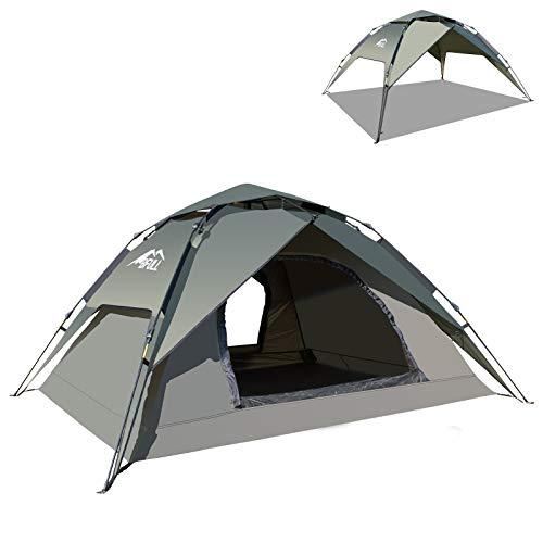 BFULL Instant Pop Up Camping Zelte für 2-3 Personen Familie, Kuppelzelte Wasserdicht Sonnenschutz Backpacking...