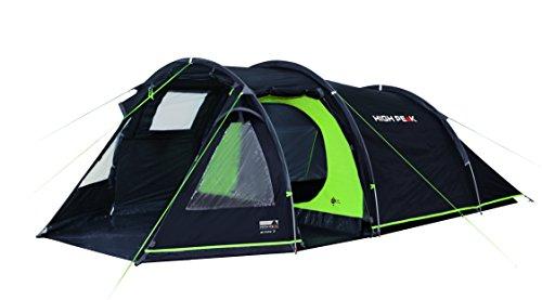 High Peak Tunnelzelt Atmos 3, Campingzelt mit Zeltboden, Trekkingzelt für 3 Personen, 2...