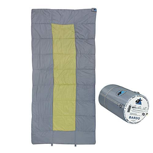 10T Bardo Schlafsack XXL 200x100 cm Deckenschlafsack Grau Grün -13° warm wasserabweisend...