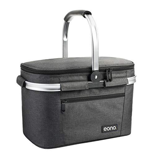 Eono by Amazon - Picknickkorb 22L, isolierter Korb, Kühltasche für den Außenbereich,...