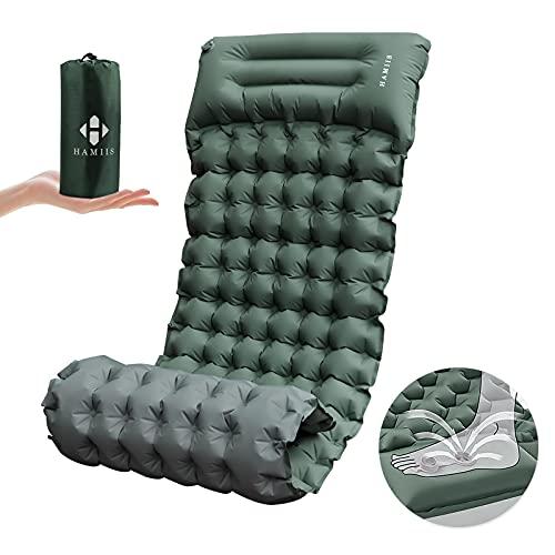 HAMIIS Isomatte Camping schlafmatte mit Fußpresse Pumpe - Verbreiternde & Verdickte...