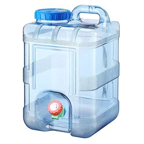 Hearthxy 10L Wasserkanister Tragbarer Eimer Auto Wasserbehälter mit Hahn BPA-frei...