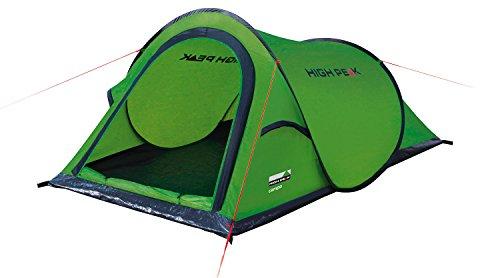 High Peak Wurfzelt Campo 2, Pop Up Zelt für 2 Personen, Festivalzelt mit Wannenboden,...