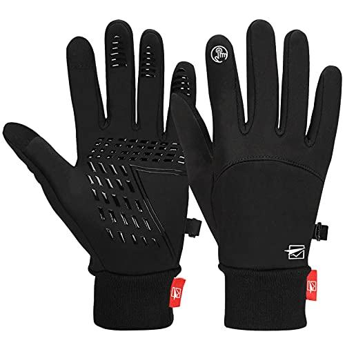 Cevapro Fahrradhandschuhe Warme Winterhandschuhe Wasserdichte Touchscreenhandschuhe...