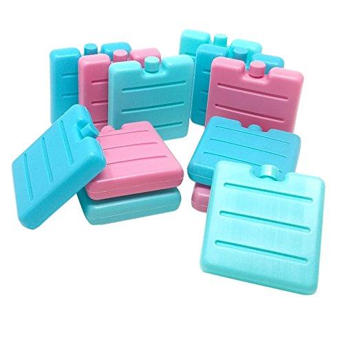 ToCi 12er Set Kleine Kühlakkus | Mini Kühl-Elemente für die Kühltasche | Kühl-Akku...