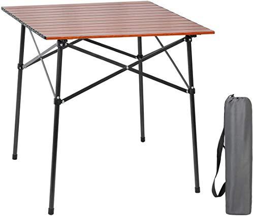 EVER ADVANCED Campingtisch Klapptisch mit Aluminium Tischplatte faltbar leicht tragbar mit...