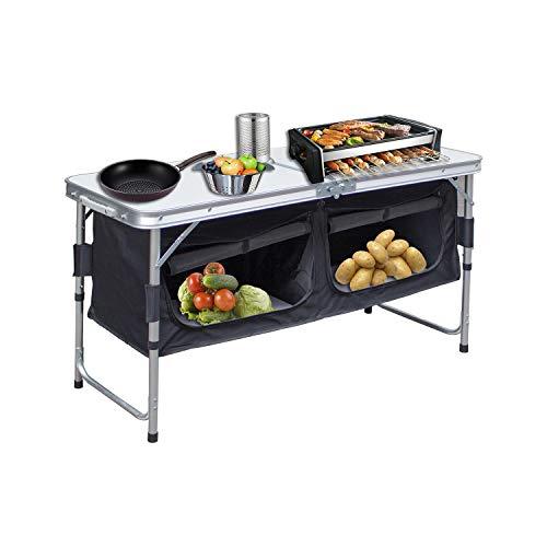 Hengda Campingschrank Schrank klappbare Campingküche Kofferschrank mit...