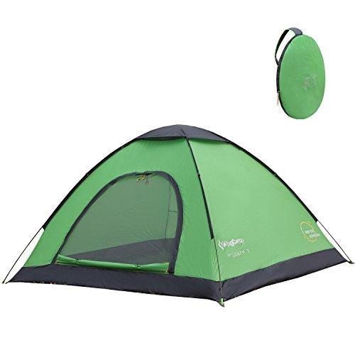 KingCamp Campingzelt Kuppelzelt 3 Personen Wurfzelt Pop-Up Festival Zelt mit...