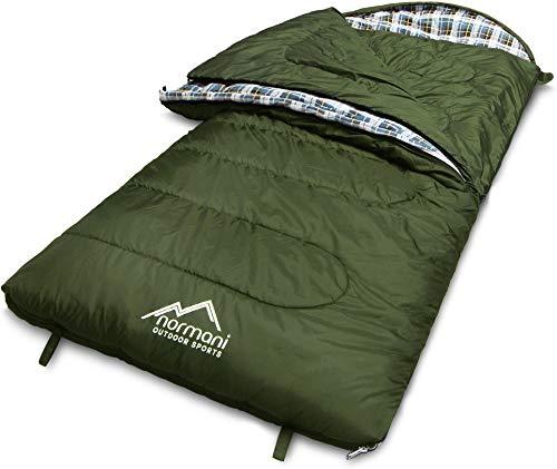normani 4-in-1-Funktion Extrem Outdoor Schlafsack 'Antarctica' aus Nylon Rip-Stop mit 500...