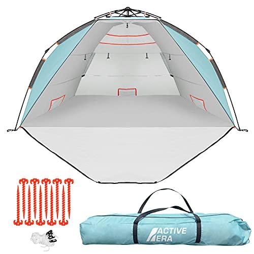 Active Era Luxus Strandzelt mit UV-Schutz (LSF 50+) - Strandmuschel XXL, wasserabweisend,...