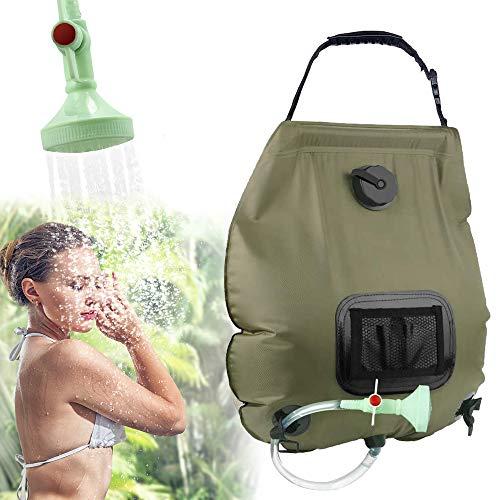 KIPIDA Solardusche Outdoor, 20L Campingdusche Solar Wassersack Heizung Camping Dusche...