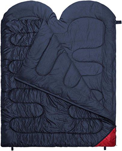 2 Personen Doppelschlafsack Companion in Komfortgröße 220 x 160 cm Farbe Marine