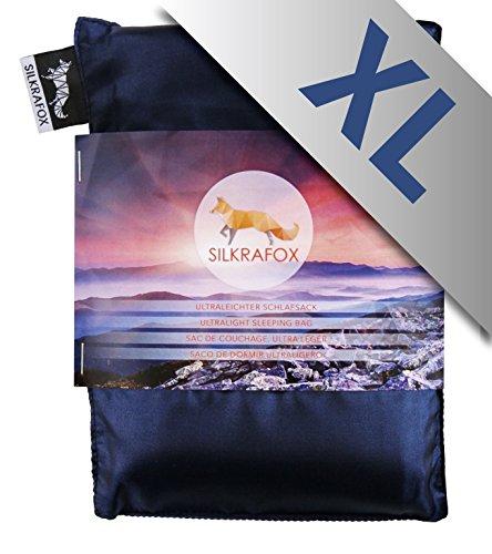 Silkrafox XL - extragroßer, ultraleichter Schlafsack, Hüttenschlafsack, Inlett,...