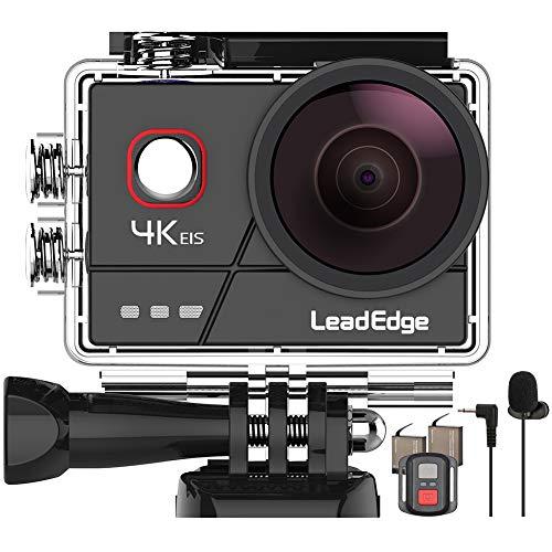 LeadEdge A20 Action Cam 4K/30FPS 1080P/60FPS 20MP Unterwasserkamera Externes Mikrofon WiFi...