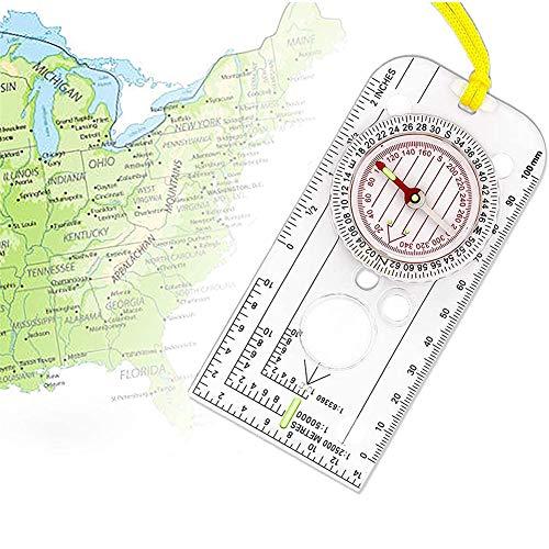 Aomier Kompass,überlebensausrüstung,Kompass Outdoor Wanderkompass für...