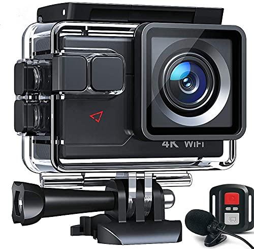 Action Cam AC700 4K 20MP WiFi Unterwasserkamera Ultra HD Wasserdicht 40M Sportkamera...