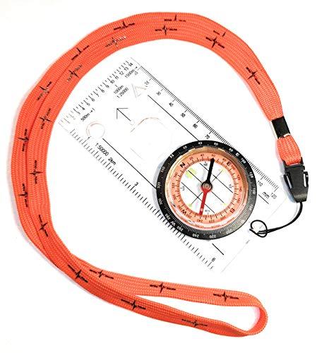 Wanderkompass, militärische Überlebensausrüstung, Kompass für Kartenorientierung,...