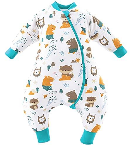 Chilsuessy Baby Winterschlafsack Schlafsack mit Füssen kleine Kinder Ganzjahres Winter...