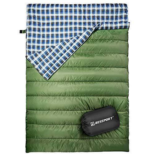 Bessport Doppelschlafsack, Schlafsäcke für Erwachsene Rucksack, leicht und...