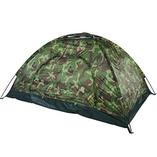 Camping Zelt, 2 Personen tragbare Outdoor-Camouflage UV-Schutz wasserdicht Rucksack Zelt 2...