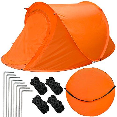 EYEPOWER Popup-Zelt Wurfzelt ultraleichtes Campingzelt 245x145x100cm Sekundenzelt Inkl....