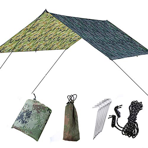 Doofang Camping Hammock Plane, Zeltplane, Tent Tarp, Train Trap, 3m x 3m, Wasserdicht...