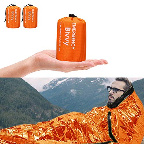 Charminer Notfallzelt,Biwaksack Survival Schlafsack warm Outdoor Tube Zelt wasserdicht leicht hitzeabweisend...
