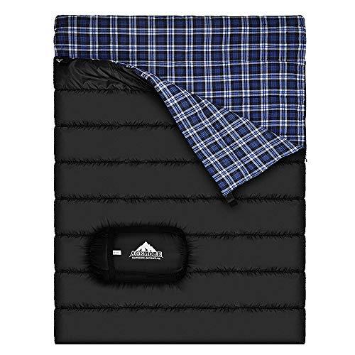 Doppelschlafsack aus Baumwollflanell, für Camping, Rucksackreisen oder Wandern,...