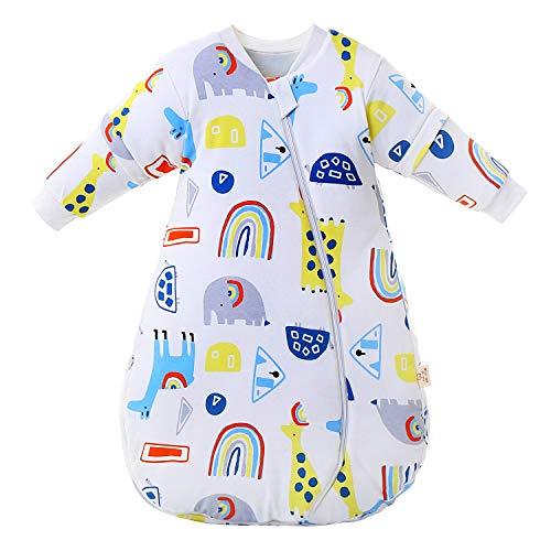 Baby Winter schlafsack Kinder schlafsack 2.5-3.5 Tog Schlafsaecke aus Bio Baumwolle...