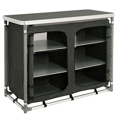 CampFeuer - Campingschrank, Campingküche mit Aluminiumgestell, ca. (L) 102 cm x (B) 47 cm...