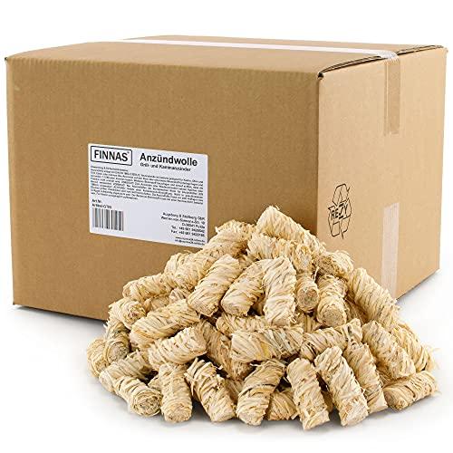 10 kg FINNAS Premium Öko-Kaminanzünder Anzündwolle Holzwolle Grillanzünder Anzünder...
