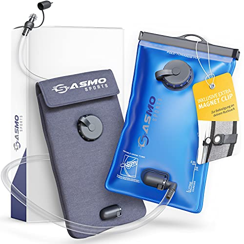 SASMO Sports® Trinkblase 2l [inkl. Thermotasche]   Trinkbeutel 2l BPA frei   Trinksystem...
