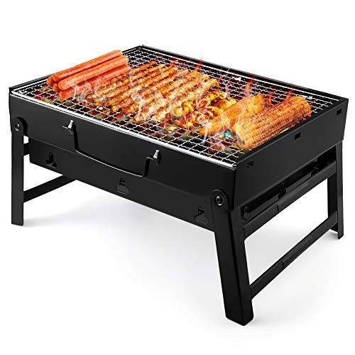 UTTORA Grill, Tragbarer Gefalteter Holzkohlegrill Tisch Outdoor Edelstahl Rauch BBQ für...