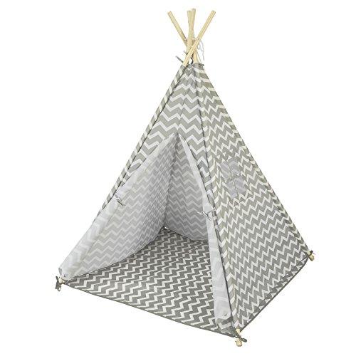 SoBuy OSS03 Tipizelt Spielzelt Zelt für Kinder mit 1 Tür und 1 Fenster Spielhaus...