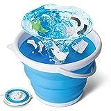 tEEZErshop Mini Waschmaschine,Camping Waschmaschine Faltbare Waschmaschine mit Vier Wäsche-Modi Ultraschall...