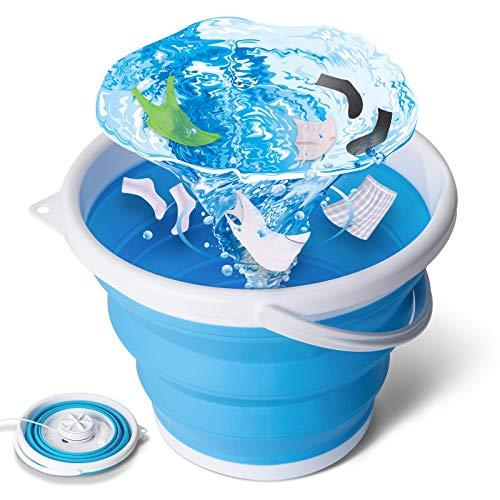 tEEZErshop Mini Waschmaschine,Camping Waschmaschine Faltbare Waschmaschine mit Vier...