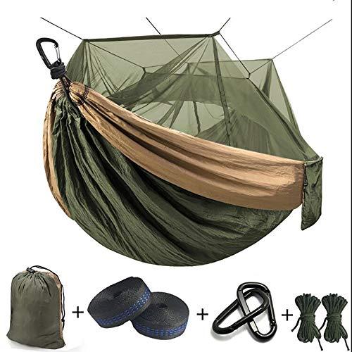 Tragbare Camping Hängematte, Ultra Light Hängematte mit Moskitonetz für 1 Personen,...
