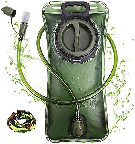 Trinkblase 2 Liter mit auslaufsicherer Wasserreservoir, Military Wasser Aufbewahrung Blase...