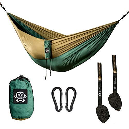 Monkey Swing Hängematte inkl. Aufhängeset I 275 x 140 cm I Outdoor, Travel, Trekking &...