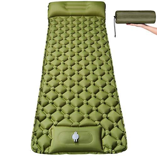 Isomatte Camping Selbstaufblasbare mit Fußpresse Pumpe - Ultraleichte Aufblasbare...