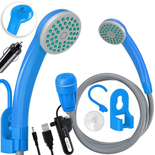 KESSER® Campingdusche mit Akku Tauchpumpe Handbrause 2200mAh-Lithium-Akku, USB-Ladekabel,...