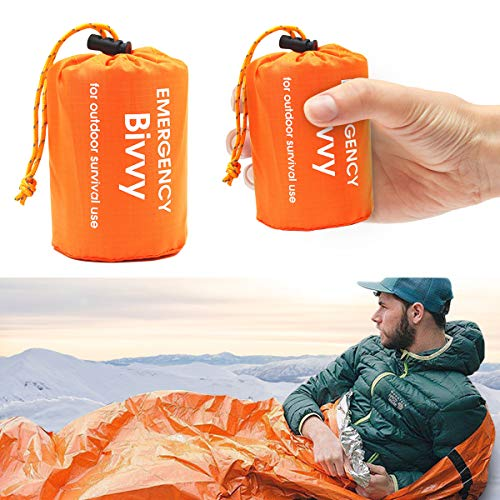 LATTCURE Notfall Überleben Schlafsack,Survival Biwaksack Erste Hilfe Rettungsdecken...