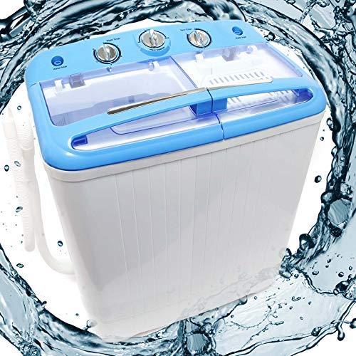 Wiltec Camping Waschmaschine für bis zu 5,2 kg für Normalwäsche und Feinwäsche, mit...