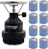 Elfmonkey Campingkocher E190 | Set aus Metall-Gaskocher & Gas | ideal für unterwegs:...