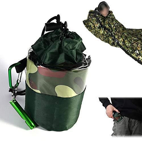 LEZED Überleben Schlafsack für Erste Hilfe Notfallzelt Biwaksack Notschlafsack Rettungsdecke Rettungsfolie...